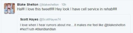 Blake Rehab Tweet